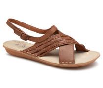 Zigzags Sandalen in braun