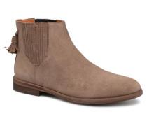 Dark Taupe Chelsea Stiefeletten & Boots in braun