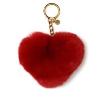 Porteclés CHARMS FUR HEART POM Portemonnaies & Clutches für Taschen in rot