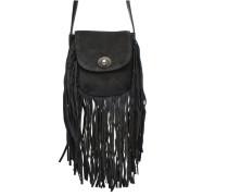 Pusle Suede Cross Body Bag Mini in schwarz