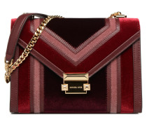 Whitney LG Shoulder Bag Handtasche in weinrot
