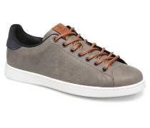 Deportivo Piel PU Contraste Sneaker in grau