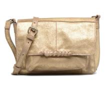 Musta Leather Crossover bag Handtasche in goldinbronze