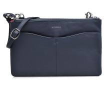 Pochette double zippée Valentine Handtasche in blau