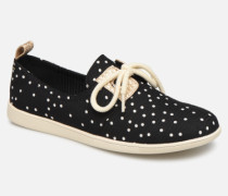 Stone One W Flock Sneaker in schwarz