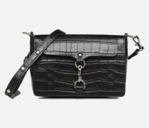 MAB FLAP CROSSBODY CROCCO Handtasche in schwarz