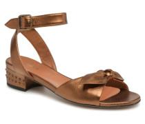 Vega Ankle Metal Milled Sandalen in goldinbronze