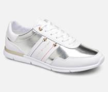 TOMMY ESSENTIAL LEATHER SNEAKER Sneaker in silber