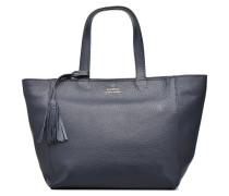 CABAS PARISIEN S Cuir grainé Handtasche in blau