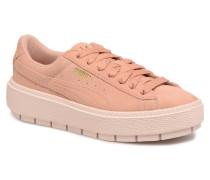 Suede Platform Trace Wn's Sneaker in rosa