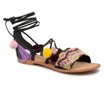 Lia Leather Sandal Sandalen in schwarz
