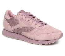 Classic Leather Lace Sneaker in lila
