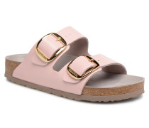 Arizona Big Buckle Cuir Clogs & Pantoletten in rosa