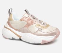 Aire Malla Engomado Sneaker in beige
