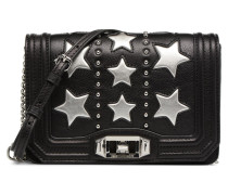 Star Small Love Crossbody Handtasche in schwarz