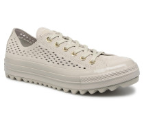 Chuck Taylor All Star Lift Ripple Mono Perf Suede Ox Sneaker in grün