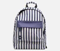 Premium Seaside Stripe Backpack Rucksäcke in blau