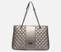 Cabas Metallic Super Quilted Handtasche in silber