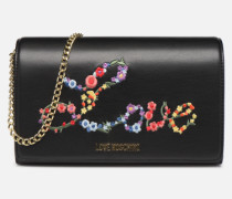 EVENING BAG FLOWERS LOVE Handtasche in schwarz