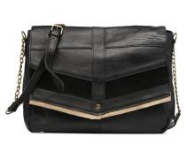 Frances Leather L Crossbody Handtasche in schwarz