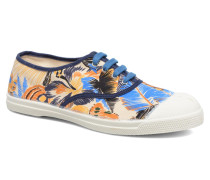 Tennis Pencil Flowers Sneaker in blau