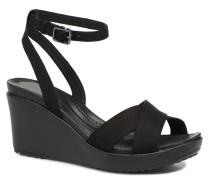 Leigh II Ankle Strap Wedge Sandalen in schwarz