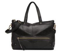 Florina Leather Bag Handtasche in schwarz