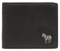 Men Wallet Billfold Zebra in schwarz