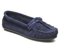 KILTY SUEDE MOC Slipper in blau