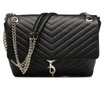 EDIE FLAP SHOULDER Handtasche in schwarz