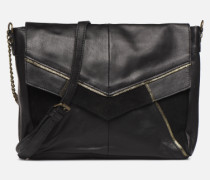 Hiromi Leather Crossbody Handtasche in schwarz