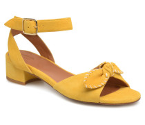 Vega Ankle Kid Suede Sandalen in gelb