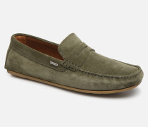 CLASSIC SUEDE PENNY LOAFER Slipper in grün