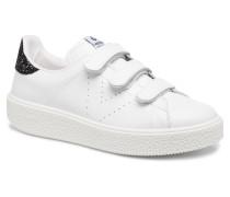Deportivo Piel Velcros Sneaker in schwarz