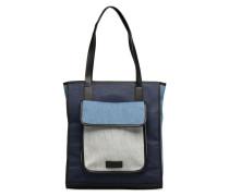 Indigo Shopper Handtasche in blau