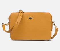 CHANTACO CUIR SQUARE CROSSOVER BAG Handtasche in gelb