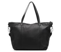 Kaethe C7 Cabas Zippé Handtasche in schwarz