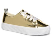 MIRROR METAL FLATFORM SNEAKER Sneaker in goldinbronze