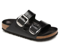 Arizona Big Buckle Cuir Clogs & Pantoletten in schwarz
