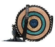 Straw Circle Crossbody Handtasche in mehrfarbig