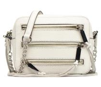 4 ZIP MOTO CAMERA BAG Handtasche in weiß
