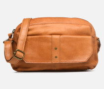 BROOKE LEATHER SMALL CROSCCBODY Handtasche in braun