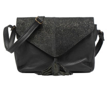Silana Leather Crossbody Handtasche in schwarz