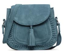 Fedori Suede Crossbody Handtasche in blau