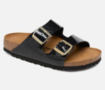 Arizona Cuir Soft Footbed Clogs & Pantoletten in schwarz
