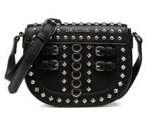 Belt Studs Crossbody Handtasche in schwarz