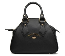 DIVINA Satchel Handtasche in schwarz