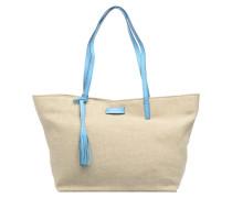 Shopper Handtasche in beige