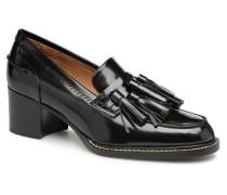 Mocassins cuir noir Slipper in schwarz