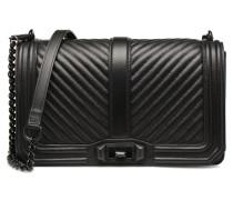 Chevron Quilted Love Crossbody Handtasche in schwarz